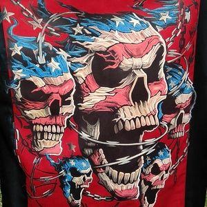 Dickies Shirts - Men's Med Black & Red Button Shirt